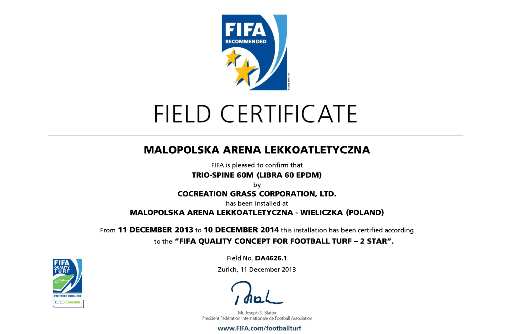 malopolska-arena-lekkoatletyczna-certyfikat